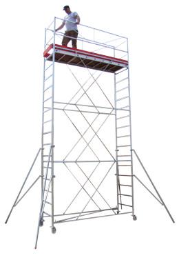 Schele mobile din otel tip NORM<br />cu suprafata podina 2,5 x 0,7m